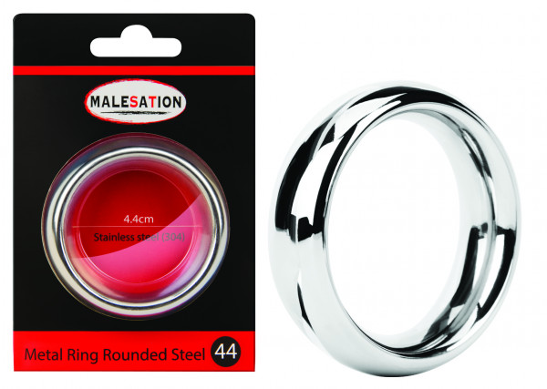 MALESATION Metal Ring Rounded Steel 44