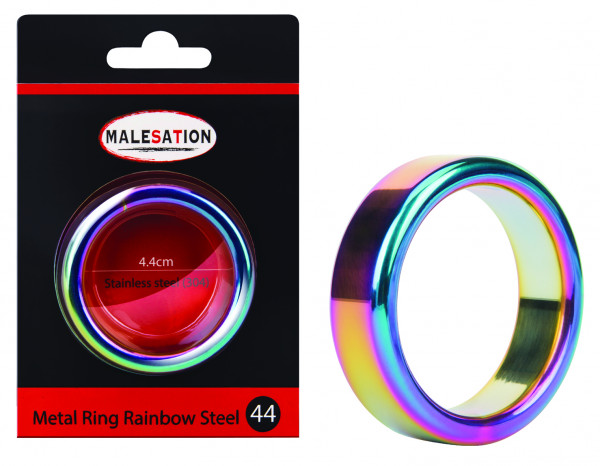 MALESATION Metal Ring Rainbow Steel 44
