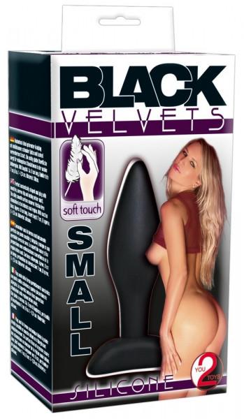 Black Velvets Silicone Butt Plug 9cm