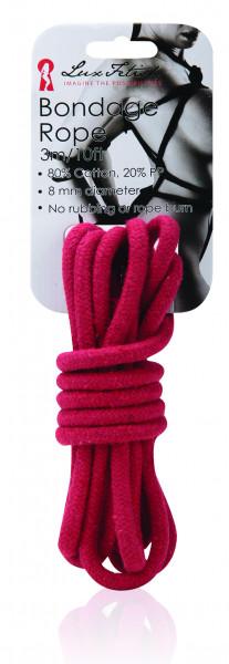 LUX FETISH Bondage Rope red 3M