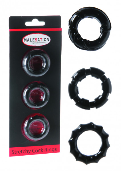 MALESATION Stretchy Cock Rings