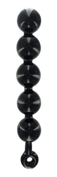 MASTER SERIES Black Baller Anal Beads