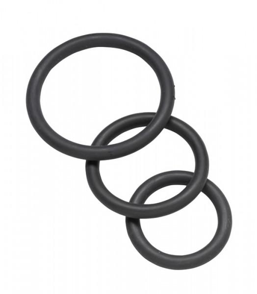 SPARTACUS Nitrile Cock Rings black (3er)