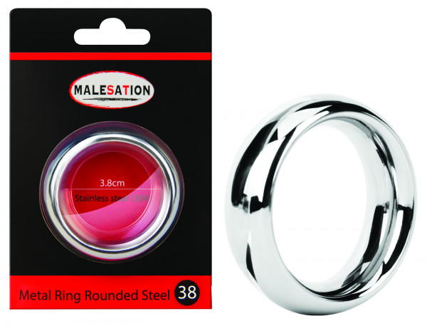 MALESATION Metal Ring Rounded Steel 38