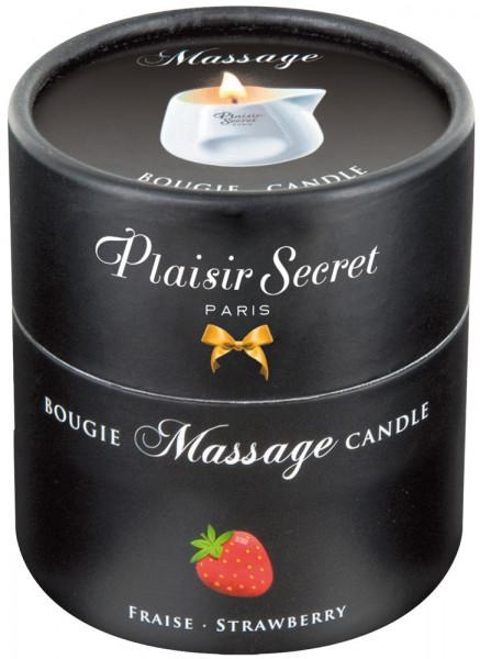 Plaisir Secret Massage Candle Erdbeere