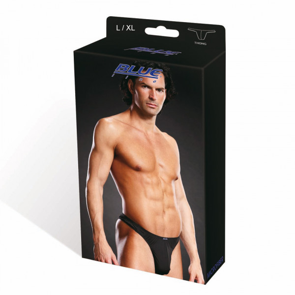 BLUE LINE Performance Microfiber Thong blk L/XL