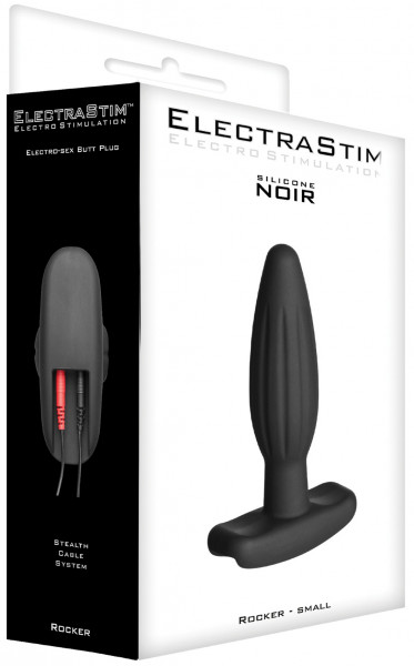 ElectraStim Silicone Noir Rocker Small Butt Plug 3cm