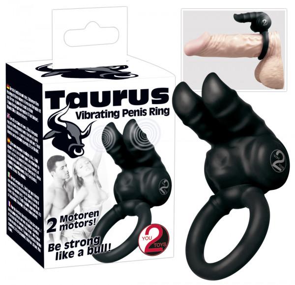 You2Toys Vibro-Penisring »Taurus« Schwarz