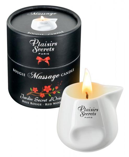 Plaisir Secret Massage Candle Red Wood