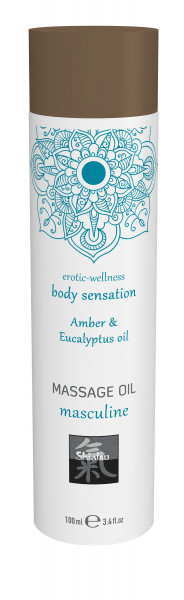 SHIATSU Massage oil masculine - Amber & Eucalyptus oil 100ml