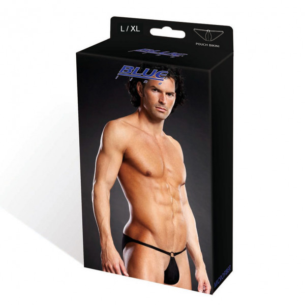 BLUE LINE Microfiber Pouch Bikini schwarz L/ XL