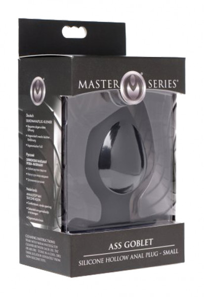MASTER SERIES Ass Goblet Hollow Anal Plug small