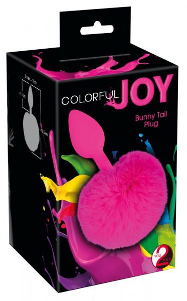 You2Toys Colorful Joy Bunny Tail Plug