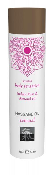 SHIATSU Massage oil sensual - Indian Rose & Almond oil 100ml